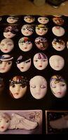 """RARE ART FACES 1986 Adagio DRAMA GIRLS WOMEN FEMALE 28 x 20"""" Poster Evanston IL"""