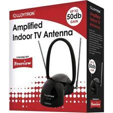 Lloyton Amplificado Antena interior de TV con compatibilidad digital
