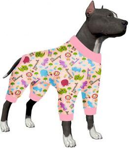 LovinPet Dog Clothes for Pitbull Shirt Pajamas Large Dogs, Slim Fit/Pet Pajamas
