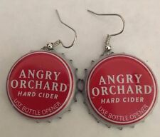 Handmade Angry Orchard Hard Cider Beer Bottle Cap Earrings