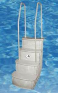 Main Access iStep Above Ground Swimming Pool Deck Entry Steps Ladder (Open Box)