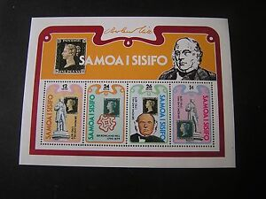 SAMOA, SCOTT # 513a-516(4), SOUVENIR SHEET1978 SIR ROWLAND HILL ISSUE MNH