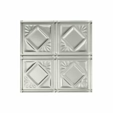 Fasade Easy Installation Traditional 4 Brushed Aluminum Lay In Ceiling Tile / x