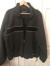 Abercrombie & Fitch Jacket Reversible Gray Blue Black Fleece Nylon Size L