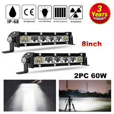 """8""""inch led work light bar offroad truck spot flood beam driving fog ATV UTV 10"""""""