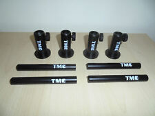 """4 x Anodized Aluminium Stage stands with locking nuts, with 4 x 5"""" inserts. Carp"""