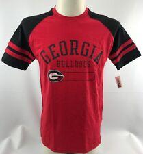 Men's Georgia Shirt Red Short Sleeve Black Unisex Medium UGA Top
