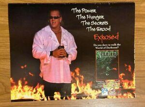 Vtg 1999 WWF THE BROOD GANGREL Poster Print Ad VAMPIRE MASQUERADE BOOK