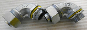 """(2) Hubbell Liquid Tight 90° Elbow Connector 1/2"""""""