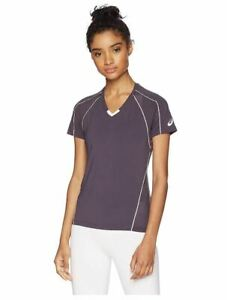 ASICS Women's Jr. Upcourt Shorts Sleeve Jersey, Steel Grey/White, Medium