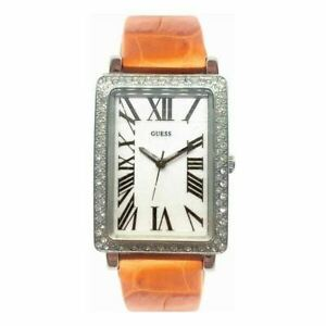 Guess Women's Watch Ladies Steel Case Orange Leather Band White Dial I95238L1_2