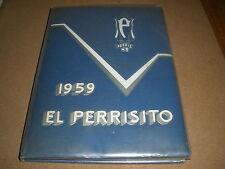 1959 Perris Union High School perris ca YEARBOOK