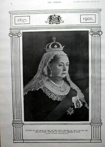 QUEEN VICTORIA 1837 - 1901 Portrait ~ Vintage Antique Print