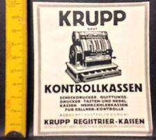 Krupp baut Kontrollkassen,Registrier Kassen,GmbH Berlin,orig.Anzeige 1925