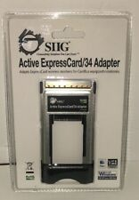 Siig Active ExpressCard/34 Adapter Ju-Ec0033-S2 New Unopened Retail Package