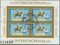 RUMÄNIEN 1978 VFU Block INTEREUROPA 3,40 L. Europäische Zusammenarbeit, Pferde
