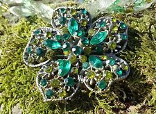 Necklace 24cm Green Rhinestone Flower/Metal/Ribbon Chic/ BoHo/Glam Style