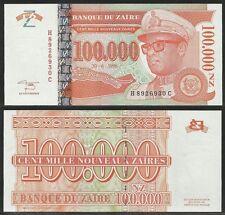 ZAIRE - 100000 Nouveaux Zaires 30.6.1996 Pick 76a UNC