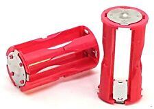 2 x Batterie Adapter für  4 x AAA / LR03  Batterien oder Akku auf C
