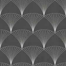 12001 - Design Fan Motifs Black Galerie Wallpaper