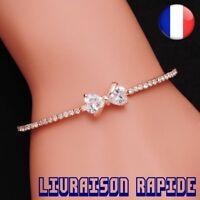 Bracelet Noeud Femme Cristal Bijoux Top Qualité Strass Bangle Mode Idée Cadeau