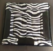 "NEW Horse Saddle Pad small square 19"" ZEBRA & Blk"