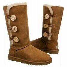 NEW Women's Chestnut UGG Bailey Button Triplet ll Boots 1016227 Size 9 Free Ship