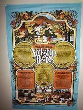 Large wall hanging Traditional Yorkshire Recipes, 1981, made in Britain, nice