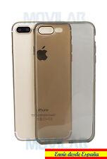 Funda carcasa gel / TPU Apple Iphone 7 Plus negro translúcido ultrafina slim 0.3