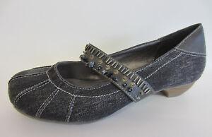 Annalisa J-012 Mujer Negro Zapatos sin Cordones (R7B)