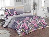 ThreeL Flore 100% Cotton Bedding Duvet Cover Set  Pink Flowers