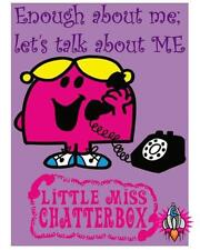 Little MISS Chatterbox grande chambre en métal rétro mur signe plaque diner café