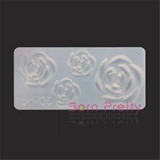3D Nagel Schablonen Acryl Rose Mold DIY Form Nail Art Maniküre Dekoration