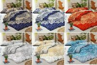 King Size Mandala Printed Cotton Flat Bed Sheet Bedspread Boho Bedding Throw