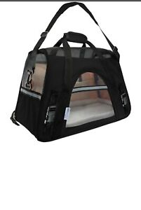 Paws & Pals PTCR01-LG-BK Comfortable Carrier Soft-Sided Pet Carrier - Black