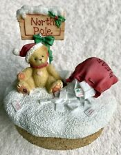 Cherished Teddie Candle Topper North Pole Sign 2000 Mib 781273 Rare New Nrfb