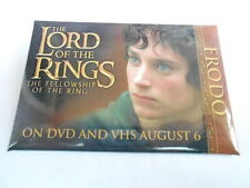 """VINTAGE 3"""" x 2"""" PINBACK BUTTON #60- 041 LORD OF THE RINGS FELLOWSHIP - FRODO"""