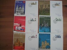 GB 1969 Trident FDC Set of 6 British Architecture (Cathedrals). All with Plymout