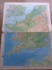 1942 Vintage John Bartholomew Atlas Map 20� France & Belgium