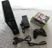 Xbox 360 Slim 320GB Console Bundle With 1 Controller And 5 Games all tested VGC