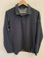 Arc'teryx Men's Captive Shirt Longsleeve Polo Half Snap Charcoal Gray Size Small