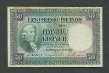 More details for iceland  50 kronur  1928  krause 34  fine residue  banknotes