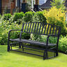 Patio Garden Glider 2 Person Outdoor Porch Bench Rocking Chair Yard Furniture