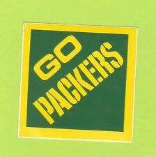 1 Vintage GREEN BAY PACKERS Window Bumper Sticker NOS 80's Unused,Unpeeled