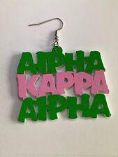 ALPHA KAPPA ALPHA Super Cute Earrings!  Very Lightweight!  Makes A Great Gift!!