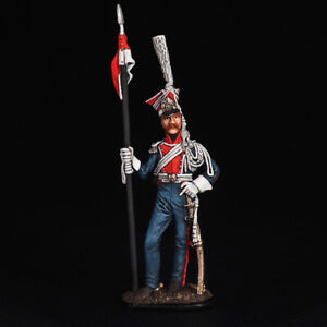 Tin Soldier, Private of the Guards Lancers France, Napoleonic wars, 54 mm