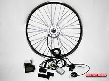 "E-Bike / Pedelec Vorderrad Umbausatz Kit 250W Watt Front Motor 28"" ~ KT3 Display"