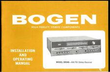 Rare Original Factory Bogen BR340 BR340W AM FM Stereo Receiver Owner's Manual