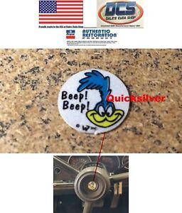 1971 1972 Plymouth Road Runner Horn Button Ornament Bird Decal NEW MoPar