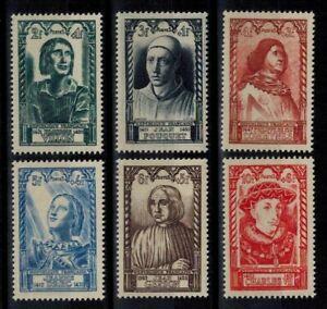 (b11) timbres de France n° 765/770 neufs** année 1946